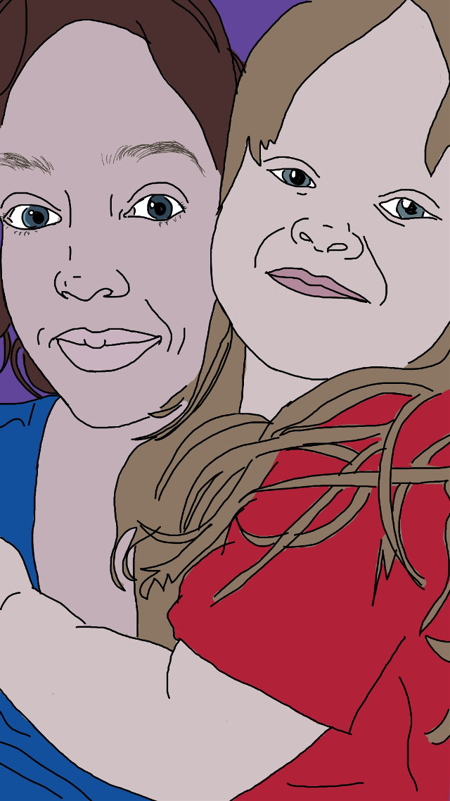 Mother's day   #mom  #mum # mother's day  #drawing #drawingoverphoto #Digitalportrait #edited  #selfportrait #photomanipulation