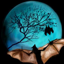 wdptwilight moon twilight bat digital